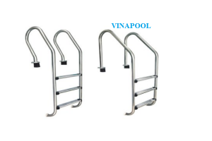 Stainless steel ladder with 2 steps