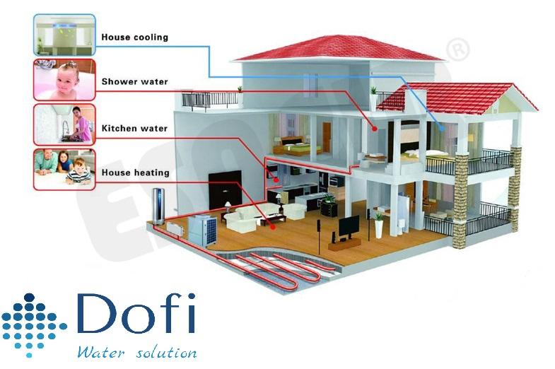 Sơ đồ hệ thống nước nóng  gia đình,