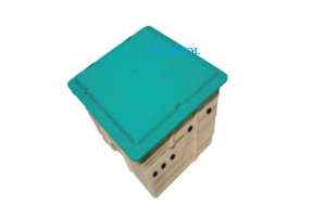 Boxes for pool equipment made of composite
