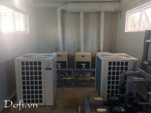 VianPool (Tiếng Việt) Hệ thống nước nóng bơm nhiệt -Heater pump bể bơi trường TH Sao Việt